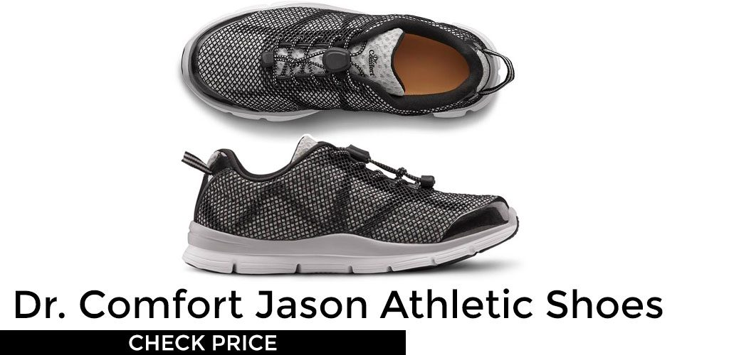 a497254725d00 Dr. Comfort Men's Jason Black Diabetic Athletic Shoes