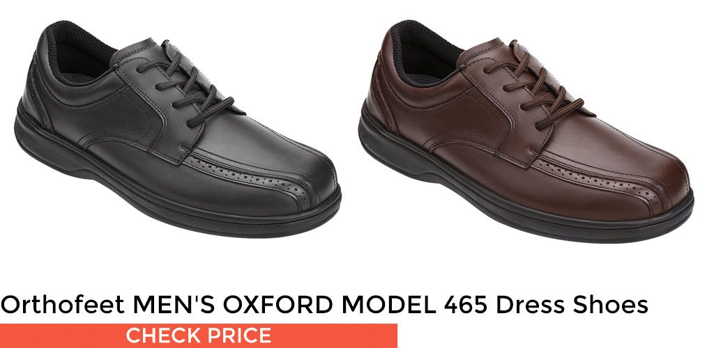 #1 - Orthofeet MEN'S OXFORD MODEL 465 Men's Dress Shoes