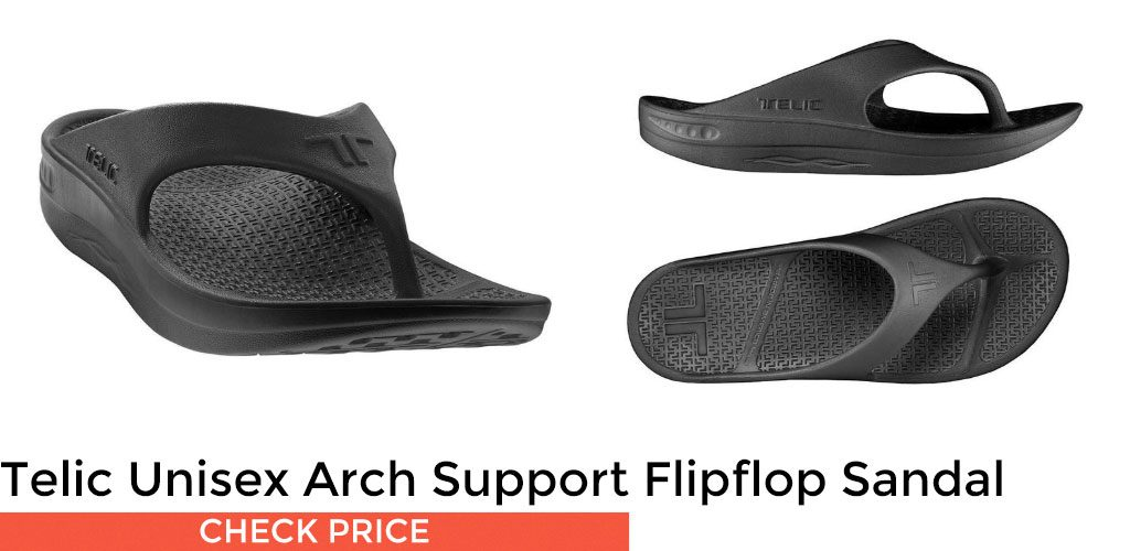 70ddcf006e7 If you re looking for the best sandal for heel pain on a budget then look  no further than the Telic Unisex Arch Support Recovery Flipflop Sandal.
